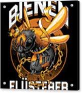 Bienen Flsterer Bee Beekeeper Honeycomb Gift Acrylic Print