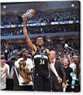Bill Russell and Giannis Antetokounmpo Acrylic Print
