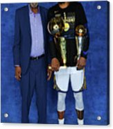 Bill Russell and Kevin Durant Acrylic Print