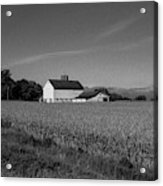 Black and White Farmstand Acrylic Print