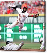 Brandon Crawford and Brandon Phillips Acrylic Print