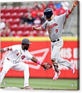 Brandon Phillips and Aaron Hill Acrylic Print