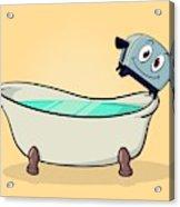 Brave Little Bathtub Acrylic Print