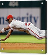 Brett Myers and Jimmy Rollins Acrylic Print