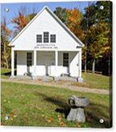 Bridgewater Meetinghouse - Bridgewater New Hampshire Acrylic Print