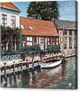 Bruges Boat in Belgium Acrylic Print