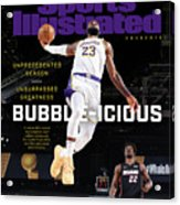 Bubble-icious Los Angeles Lakers NBA Championship Sports Illustrated Cover Acrylic Print