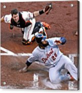 Buster Posey and Prince Fielder Acrylic Print