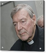 Cardinal George Pell Attends Court To Face Historical Child Abuse Charges Acrylic Print