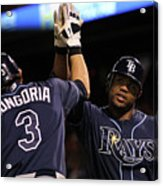 Carl Crawford and Evan Longoria Acrylic Print