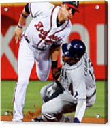 Carl Crawford and Martin Prado Acrylic Print