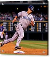 Carlos Quentin and Tommy Medica Acrylic Print