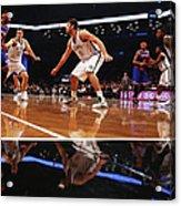 Carmelo Anthony, Brook Lopez, and Mirza Teletovic Acrylic Print