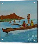 Catching a Waikiki Wave Acrylic Print