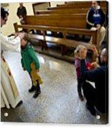 Catholic Church Hosts Mass For House Pets Acrylic Print