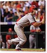 Chad Bettis, Matt Carpenter, and Pete Kozma Acrylic Print