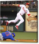 Chase Utley and Starlin Castro Acrylic Print