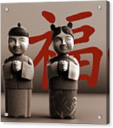 Chinese Statues_Sepia Acrylic Print