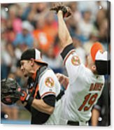 Chris Davis and Caleb Joseph Acrylic Print