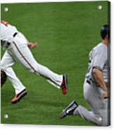 Chris Davis and Matt Holliday Acrylic Print