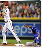 Chris Owings and Curtis Granderson Acrylic Print