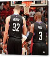 Chris Paul and Blake Griffin Acrylic Print
