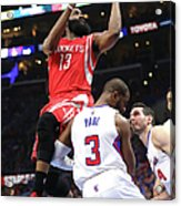 Chris Paul and James Harden Acrylic Print