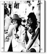 Christy Turlington and Naomi Campbell at the Central Grocery, New Orleans Acrylic Print