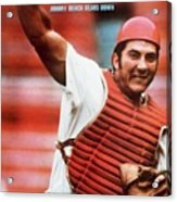 Cincinnati Reds Johnny Bench Sports Illustrated Cover Acrylic Print