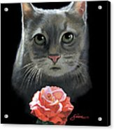 Cleo And The Rose Acrylic Print