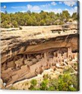 Cliff Palace in Mesa Verde, Ancient Pueblo Cliff Dwelling, Colorado Acrylic Print