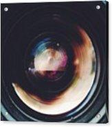 Close-Up Of Camera Lens Acrylic Print
