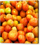 Close-Up Of Tomatoes For Sale Acrylic Print