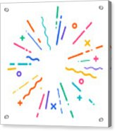 Colorful Modern Explosion Acrylic Print