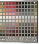 Colors By Zorn Acrylic Print
