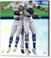 Corey Dickerson, Starling Marte, and Gregory Polanco Acrylic Print