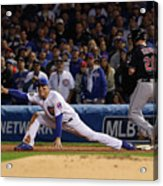 Corey Kluber, Anthony Rizzo, And Kris Bryant Acrylic Print