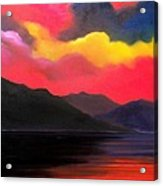 Crimson clouds Acrylic Print
