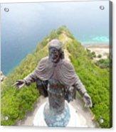 Cristo Rei of Dili statue of Jesus Acrylic Print