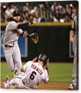 David Peralta and Brandon Crawford Acrylic Print