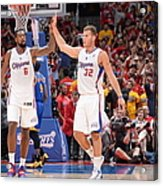 Deandre Jordan and Blake Griffin Acrylic Print