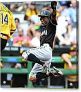 Dee Gordon and Ryan Vogelsong Acrylic Print
