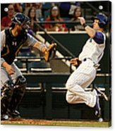 Derek Norris And Chris Owings Acrylic Print