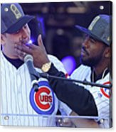 Dexter Fowler and Anthony Rizzo Acrylic Print