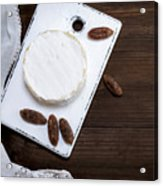 Directly Above Shot Of Dessert With Dried Fruits On Table Acrylic Print