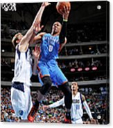 Dirk Nowitzki and Russell Westbrook Acrylic Print