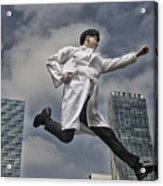 Doctor Running With Clipboard Acrylic Print