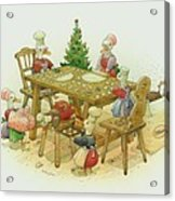 Ducks Christmas Acrylic Print