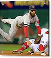 Dustin Pedroia, Jon Jay, and David Freese Acrylic Print