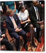 Dutch King And Queen Visit Washington, Attend Global City Team Challenge Event Acrylic Print
